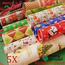 Hot 5pcs Wrapping Paper Gift Wrap Artware Packing Package Paper Christmas Paper