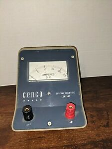 Vintage D.C. Amperes Meter CENCO Central Scientific Company CAT. NO. 82422-8