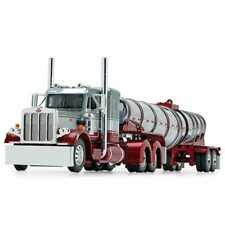 1/64 Dcp 60-0773 Silver/red Peterbilt 359 Chrome/red Polar drop tank trailer new