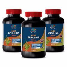 Pure Spirulina 500mg - Organic Spirulna - Chlorella - Vitamin B2 & B3 - 3B