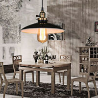 Vintage Pendant Light Bar Black Ceiling Lamp Kitchen LED Lighting Bedroom Lights
