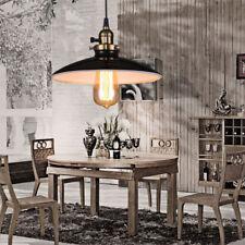 Vintage Pendant Light Bar Black Ceiling Lamp Kitchen LED Lighting Bedroom Lights