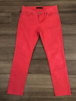 ROCK & REPUBLIC Women's Hamburg Red Cotton Blend Cropped Jeans-Size 8