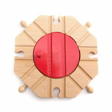 Chic Wooden Switch Cross Turntable Buffer Track Expansion Thomas Train Brio Toys