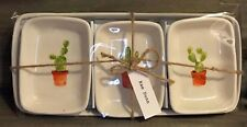 RAE DUNN Set of Cactus Trays Trinket Dishes Artisan 4 Piece Set