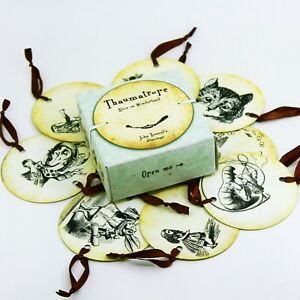 Thaumatrope. Alice in Wonderland. 8 toys