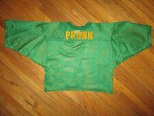 """True Vtg 1970s 1980s Grün Netz """" Brown Trikot Hemd Name Halb Gekürzt JESCO M"""