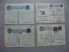 ITALY, 4x fieldpostcard WW-II, 3x used 1x mint
