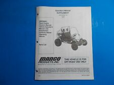 1998 Manco Machine Offroad Vehicle Model 612-00 612-01 Operators Manual Supplem.