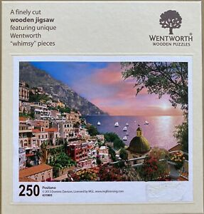 "WENTWORTH ""Positano"" 250 piece Wooden JIGSAW PUZZLE Whimsy"
