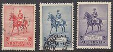 Australia: conjunto de jubileo de plata 1935 SG156-8 (2/- Cto) Usado