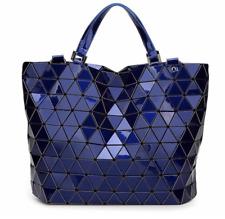 9f86d6a896b4 NEW STYLE High Quality BAO BAO Issey Miyake Metallic DARK BLUE TOTE Bag NEW