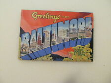 Vintage Postcard Booklet - Greetings From Baltimore, MD