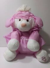 Vintage Fisher Price Pink Puffalump Lamb Sheep Dress 1986 Plush Stuffed Animal