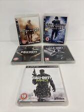 5 x Playstation 3 Call of Duty PS3 juegos de guerra Paquete de bacalao, WARFARE Black Ops MW3