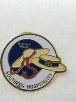 Vintage Enamel Rotary International Pin District 5610 Southern Hospitality Hats