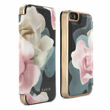 Official Ted Baker Aw16 Folio Case for iPhone SE / 5s / 5 Porcelain Rose - Black