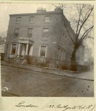 Angleterre, Londres, Immeuble du 128 Southgate Road, ca.1900, Vintage citrate pr