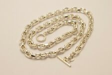 """Long Taxco Mexican 925 Sterling Silver Cable Chain. 103g, 71cm, 28"""""""