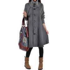 Woolen Casual Solid Coats & Jackets for Women