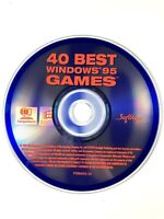 40 Best Windows 95 Games (PC, 1996) Disc Only✨ Ships Free✨ Pre-Owned, Very Good✨