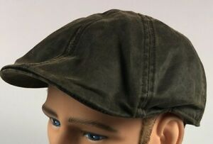 New With Tags - XL Conner Handmaid Hats Brown Weathered Cotton Newsboy Cap