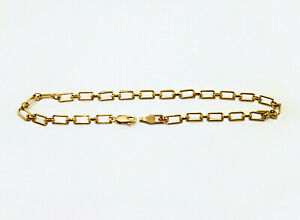 Rectangle Anklet Chain /Authentic Gold Filled 1-20 14K / 10 inch Anklets