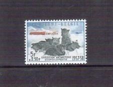 Belgium 1957 Antarctic Dogs #B605b, Blue, Slate & Brown MUH