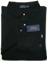 NEW $98 Polo Ralph Lauren Short Sleeve Black Cotton Mesh Shirt Mens NWT