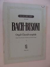 Bach Organ Choral Preludes rev for piano by Busoni  Orgel-Choralvorspiele