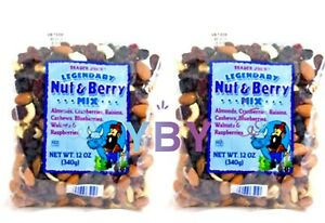 2 Packs Trader Joe's legendary Nut Berry Mix 12 OZ Each Pack