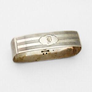 Alvin Milled Narrow Napkin Ring Sterling Silver 1920 Mono