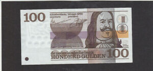 100 GULDEN EXTRA FINE BANKNOTE FROM NETHERLANDS 1970 PICK-93 RARE