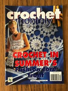 Crochet Monthly No. 254  Tablecloth, Doilies, Lady's Summer Top, Bags