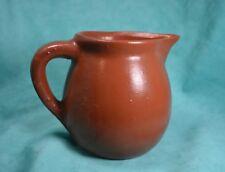 Vtg Pottery Ceramic Jug Earthenware Crock Brown Primitive
