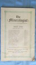 1941 Mineralogist Magazine-Portland Oregon-California Crystals-Montana Fossils