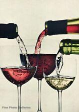 1953 Vintage IRVING PENN French Wine Pour Red White Rose Kitchen Photo Art 16x20