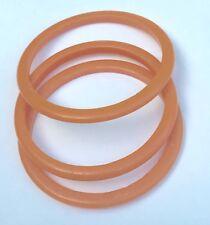 SET OF 3 VINTAGE Orange BAKELITE Bangle BRACELETS 1/8 Inch Each Width