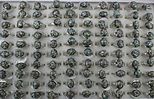 New Job lots 20pcs nature shell Silver Plated Charm Nice Women Party Gift rings