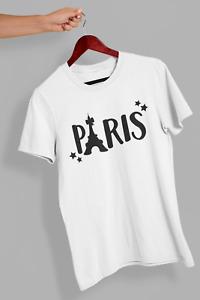 Paris T-Shirt Cute Fashion Top Casual Gift for Girls Christmas Kids Womens 384