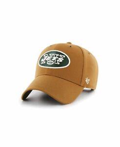 New York Jets NFL CARHARTT X '47 MVP Brown Hat Cap Football Team Adjustable Mens