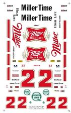 #22 Bobby Allison Miller High Life 1/64th - HO Scale Slot Car  Decals