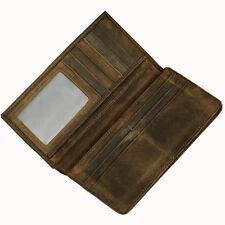Retro Men's Crazy Horse Leather Handbag Wallet ID Card Holde Pockets Purse Bags