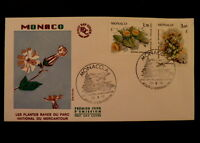 MONACO PREMIER JOUR FDC YVERT  1461+1465    PLANTES MERCANTOUR   1,70+F     1985