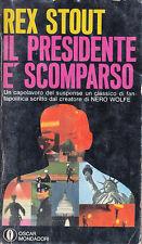 """Y4 """"IL PRESIDENTE E' SCOMPARSO""""di Rex Stout"""