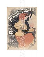 "CHERET JULES - PASTILLES PONCELET - ART PRINT POSTER 11"" X 14""   (2118)"