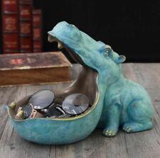 Hippopotamus Statue Decoration Resin Artware Sculpture Decor Home Accessories On