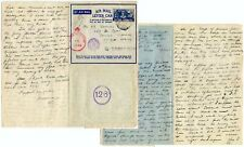 SOUTH AFRICA WW2 DOUBLE CENSORED AIRLETTER to DENVER via GB +CANADA + EGYPT