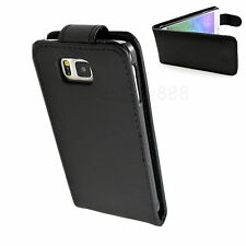 Protective Black Flip PU Leather Skin Cover Case Accessories For Samsung Phones