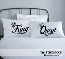Unique Custom Print Pillowcases Gifts Couple King & Queen Print Design Gift